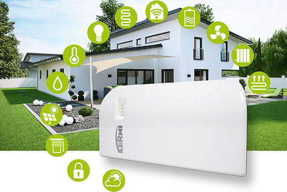 Kermi Smart Home mit Steuerungszentrale x-center base